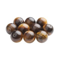 20mm Round gemstone bead Tiger Eye (Single bead)
