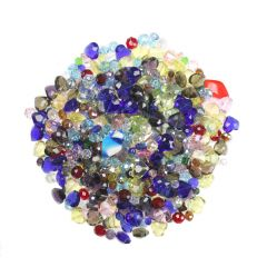 Bargain Bag of Assorted Glass Beads  (1 Kg)