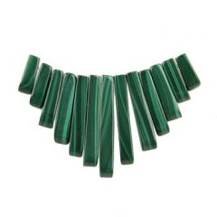 Gemstone Feature Tapered Set 13 piece Malachite