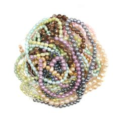 Bargain FWP Medium Mixed Coloured Pearl Pack( 10) Strands NETT