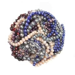 Bargain FWP Large Mixed Coloured Pearl Pack (10) Strands NETT