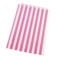 Striped (PINK) Paper Bag 125x175mm