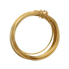 Parawire 14 Gauge  (1.63mm)  Non Tarnish Gold Plated Wire 10ft (3m) Coil