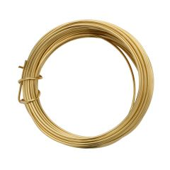 Parawire 16 Gauge (1.29mm) Non Tarnish Gold Plated Wire 15ft (4.6m) Coil
