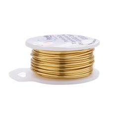 Parawire 18 Gauge (1.02mm) Non Tarnish Gold Plated Wire 20ft (6m) Spool