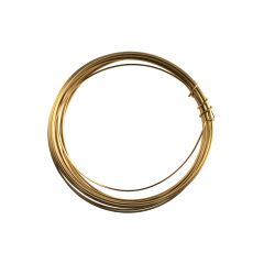 Parawire 22 Gauge (0.64mm) Square Non Tarnish Solid Faux Gold Wire 12 Foot (3.6m) Coil
