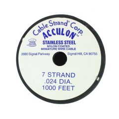 "Acculon Beading Wire .024"" (7 strand) 1000 Foot Reel"