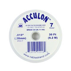 "Acculon Beading Wire .015"" (7 strand) Bright 30 Foot Reel"