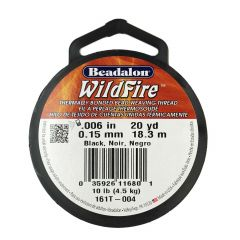 Beadalon Wildfire Thread Black 0.15mm x 18.3m Reel