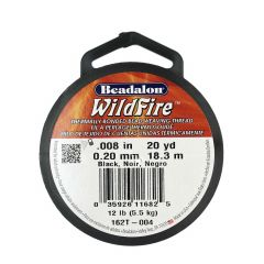 Beadalon Wildfire Thread Black 0.20mm x 18.3m Reel