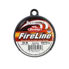 "Beadsmith Fireline Braided Beading Thread Smoke Grey 6LB 50yd 0.006"" NETT"