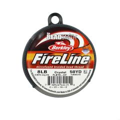 Beadsmith Fireline Braided Beading Thread Crystal 8LB 50yd Reel NETT