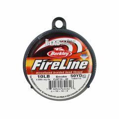 Beadsmith Fireline Braided Beading Thread Smoke Grey 10LB 50yd Reel NETT
