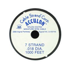 "Acculon Beading Wire .018"" (7 strand) 1000 Foot Reel"