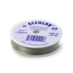 "Acculon Wire .015"" (49 strand) Bright 100 Foot Reel"