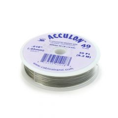"Acculon Wire .018"" (49 strand) Bright 30 Foot Reel"