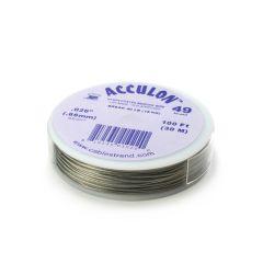 "Acculon Wire .026"" (49 strand) Bright 100 Foot Reel"