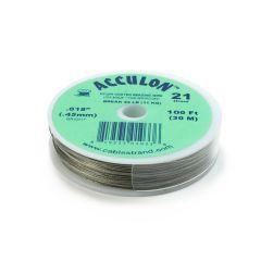 "Acculon Wire .018"" (21 strand) Bright 100 Foot Reel"