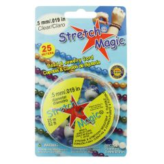 0.5mm Stretch Magic Beading Thread Clear 25 Metre Reel