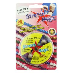 1.0mm Stretch Magic Beading Thread Clear 25 Metre Reel
