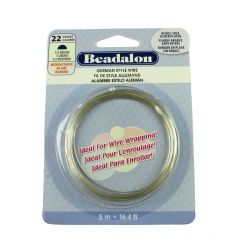 Beadalon Half  Round German Style Wire 22 Gauge Silver Plated 5 Metres