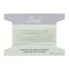 Beading Thread White 0.4mm 50  Foot Length (15.24 mtrs)