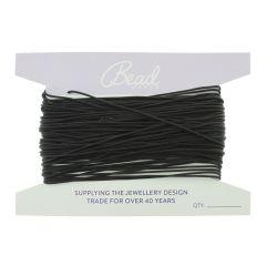 Beading Thread Black (Onyx) 0.8mm 50  Foot Length (15.24 mtrs)