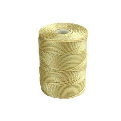 C-Lon Bead Cord (CLC) Wheat 92yds (84 Metres) per Bobbin NETT