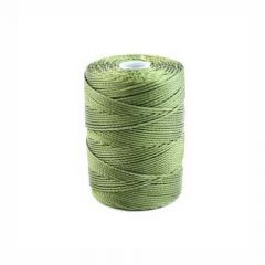 C-Lon Bead Cord (CLC) Olive Green 92yds (84 Metres) per Bobbin NETT