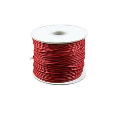 Red Waxed Beading Cord 1mm 100 Metre Reel