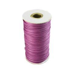 Purple Waxed Cord 2mm 100 Metre Reel