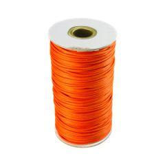 Orange Waxed Cord 2mm 100 Metre Reel