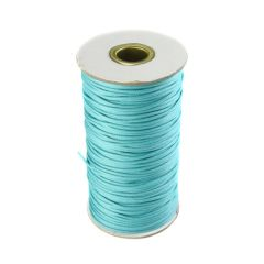 Turquoise Waxed Cord 2mm 100 Metre Reel