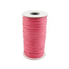 Pastel Pink Waxed Cord 2mm 100 Metre Reel
