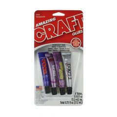 Amazing Craft Glues Sampler Multipack 0.18 fl oz Tubes (4)