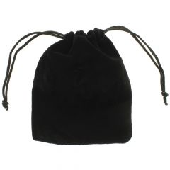 Suedette Cotton Pouch Black 120 x 93 mm