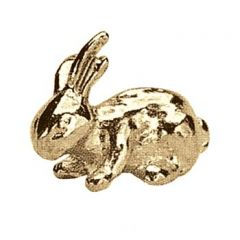 Rabbit Metal Figure Gilt Plated
