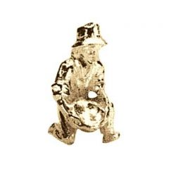 Small Gold Panner Metal Figure Gilt Plated