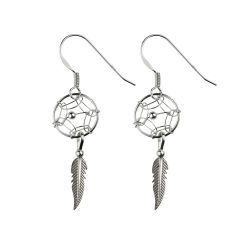 Authentic Native American Dream Catcher Mini Earring Sterling Silver (STS)