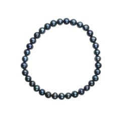Elasticated 5.5-6mm Potato Pearl Bracelet Peacock