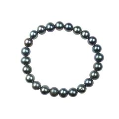 Elasticated 8.5-9mm Potato Pearl Bracelet Peacock