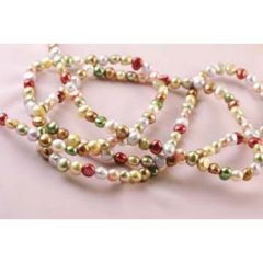 Continuous Freeform Pearl 6-7mm Necklace 120cm Multi-Colour