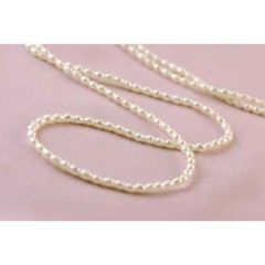 Continuous Rice Pearl 3-3.5mm Necklace 90cm White