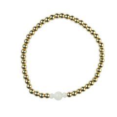 Moonstone Bracelet Hematine with 18ct Gold Plating -Birthstone  June