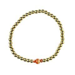Sardonyx  Bracelet Hematine with 18ct Gold Plating Birthstone-August