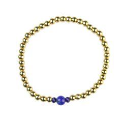Lapis Bracelet Hematine with 18ct Gold Plating -Birthstone September