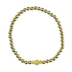 Citrine Bracelet Hematine with 18ct Gold Plating - Birthstone November