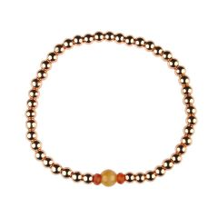 Sardonyx Bracelet Hematine with Rose Gold Plating -Birthstone August