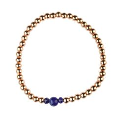 Lapis  Bracelet Hematine with Rose Gold Plating -Birthstone September