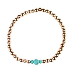 Turquoise Bracelet Hematine with Rose Gold Plating Birthstone - December